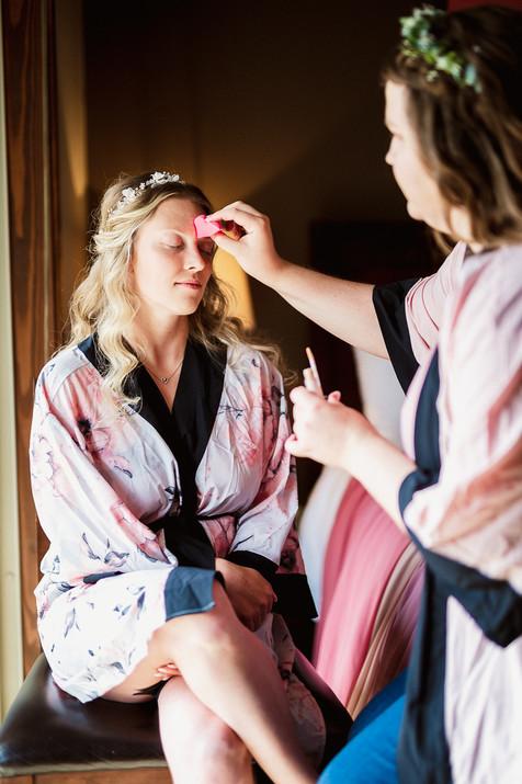 Cornerstone Theatre wedding hair and makeup