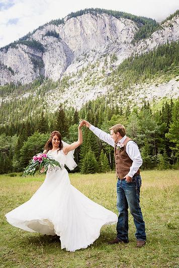 Banff wedding photos at Cascade Mountain