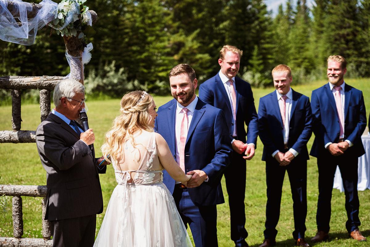 Canmore wedding photographer at Cornerstone Theatre wedding ceremony