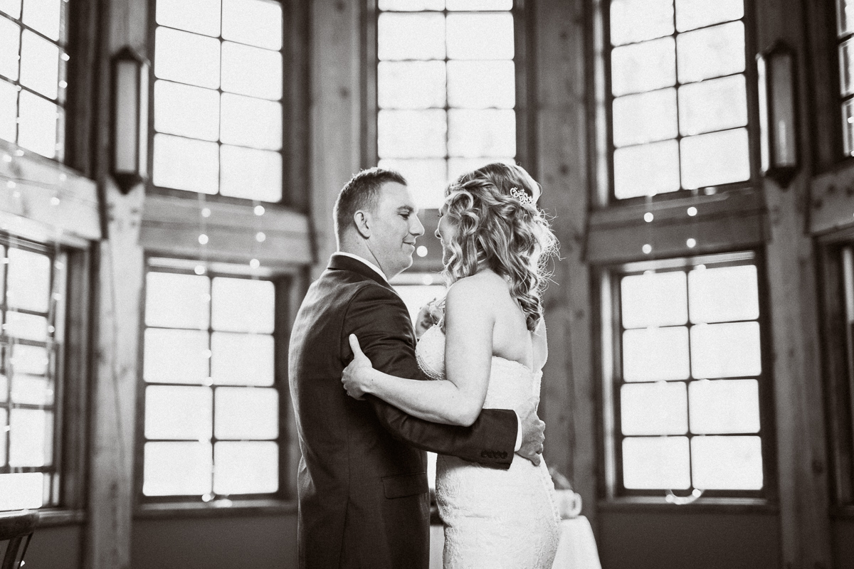 First dance captured by Emerald Lake wedding photographer
