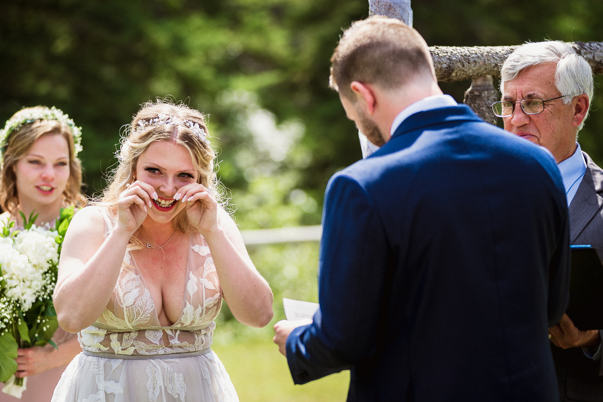 Tears of joy and laughter at Canmore Ranch wedding