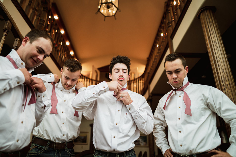 Funny candid moment by Banff wedding photographer