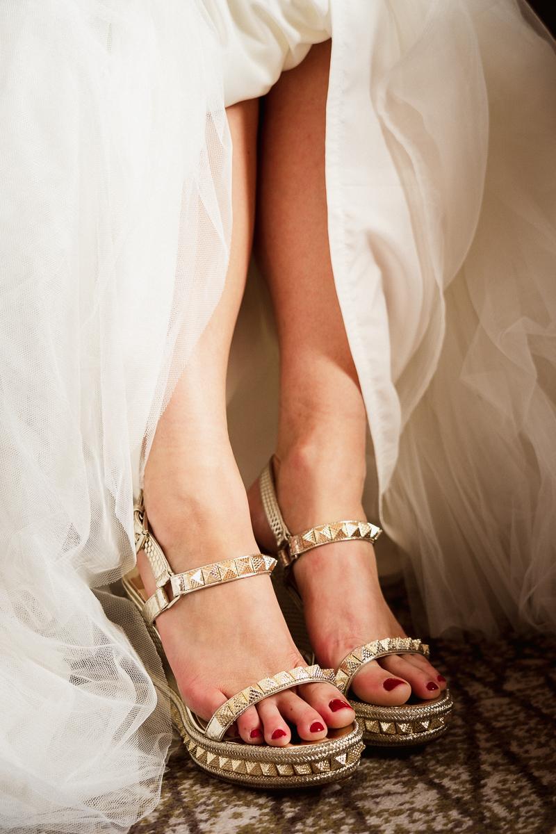 Louis Vuitton wedding shoes at Banff wedding