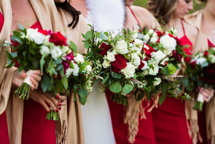 Bridesmaids flowers in Banff