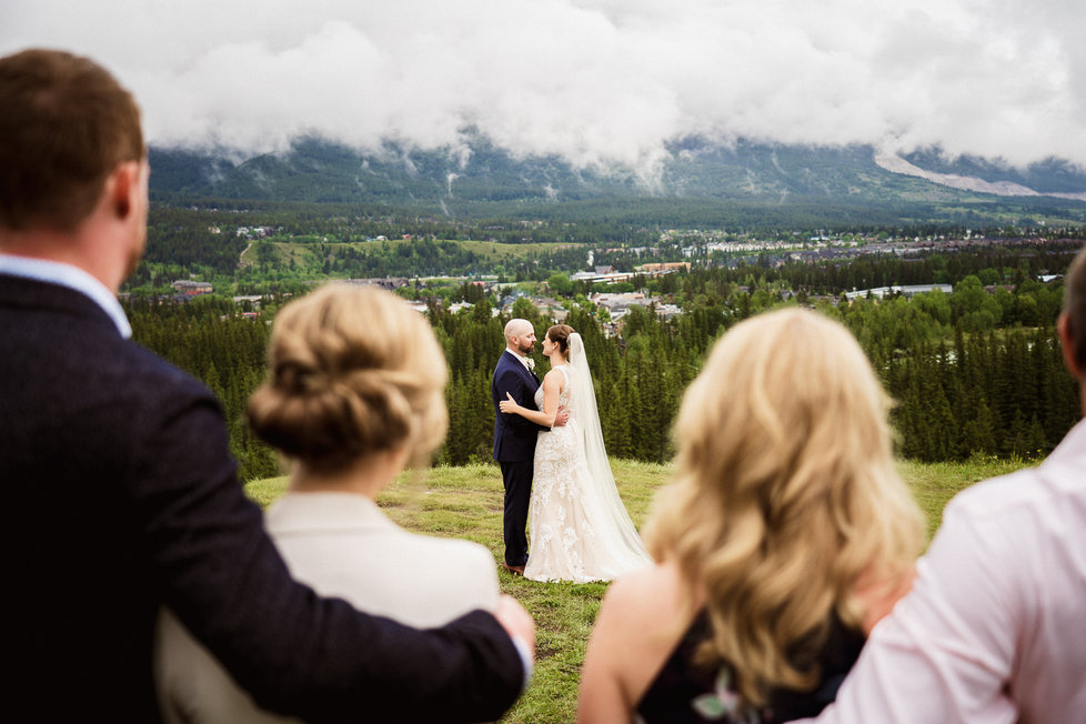 First dance at Canmore Nordic Centre wedding photography