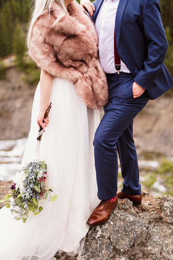Banff elopement photography at Surprise Corner