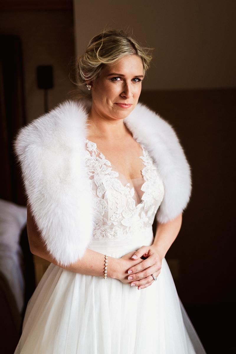 Bridal portrait by Banff wedding photographer