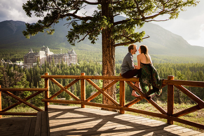 Best engagement photographers in Banff