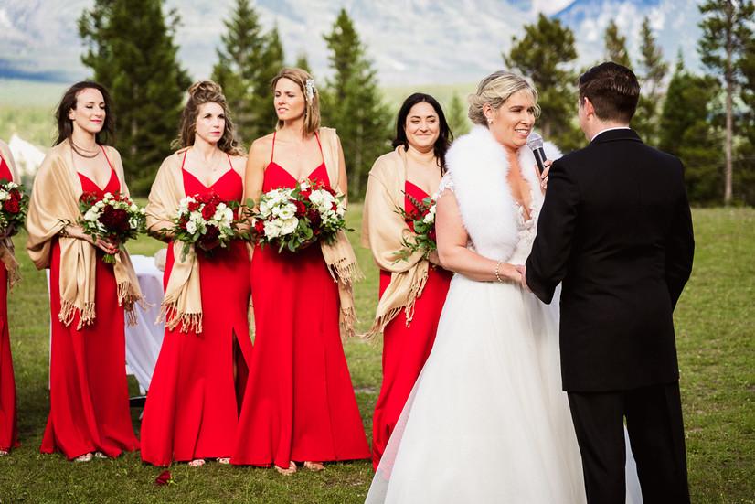 Banff wedding photographer at luxurious Banff wedding