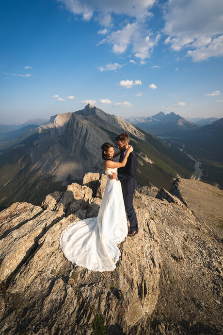 Summit wedding photos in Canmore and Banff