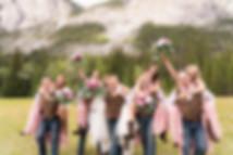 Banff wedding photographer at Lake Minnewanka wedding
