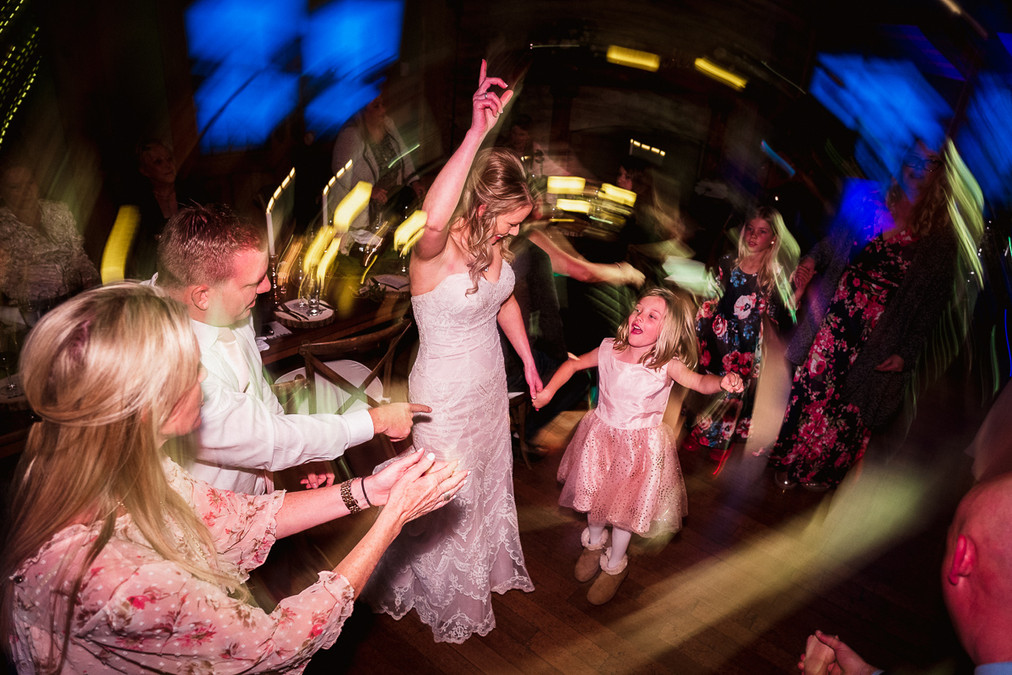 Dancing the night away captured by Emerald Lake wedding photographer