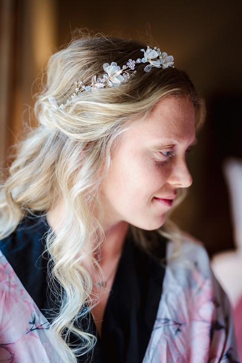 Canmore wedding photographer bridal portrait