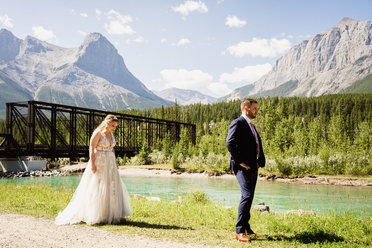 First look at Canmore Engine Bridge before Cornerstone Theatre wedding