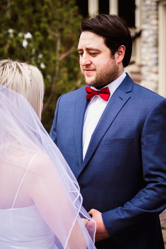 Banff elopement photography wedding ceremony