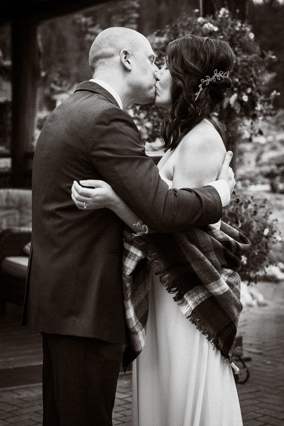 First kiss during A Bear and Bison Inn wedding
