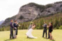 Banff wedding photographer at Tunnel Mountain Reservoir wedding