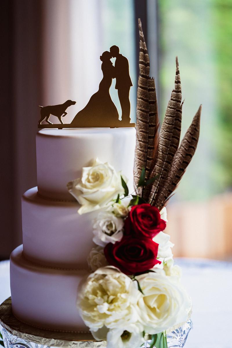 Wedding cake at Banff Park Lodge