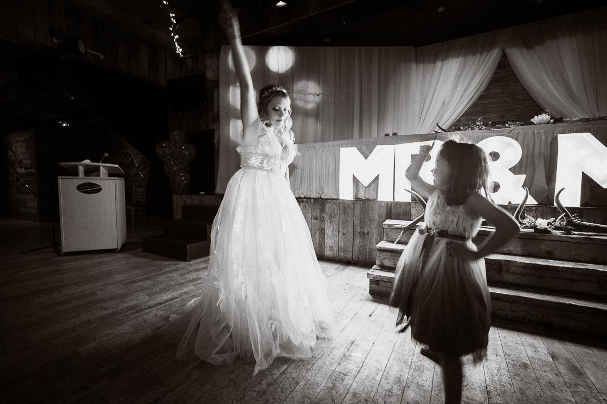 Cornerstone Theatre wedding reception candid dancing moment