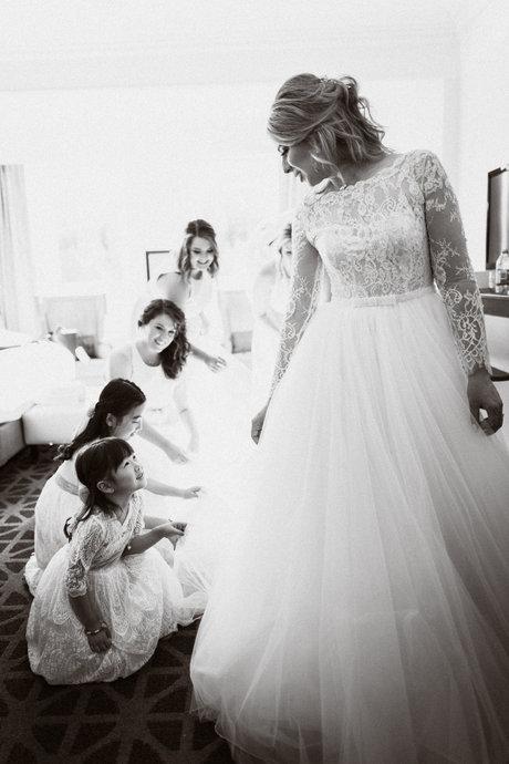 Banff Springs hotel wedding getting ready