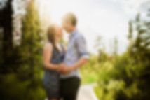 Engagement photos in Canmore and Banff
