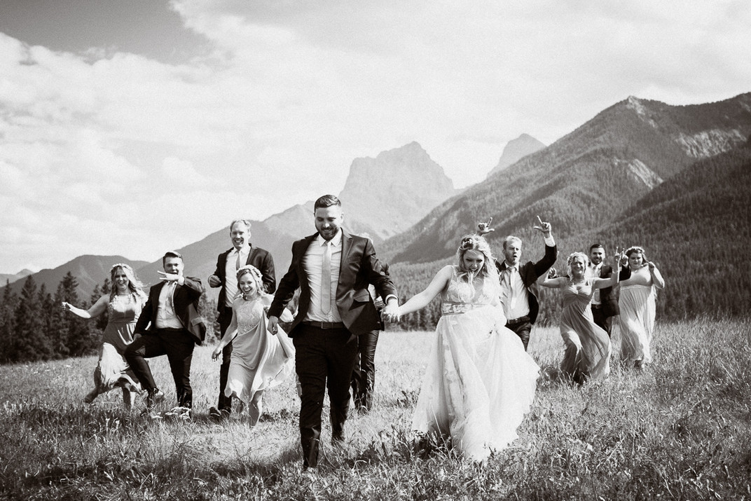 Canmore wedding photographer at Quarry Park