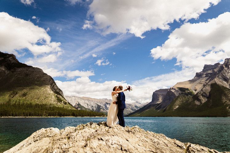 Banff wedding photographer for Adventurous Couples