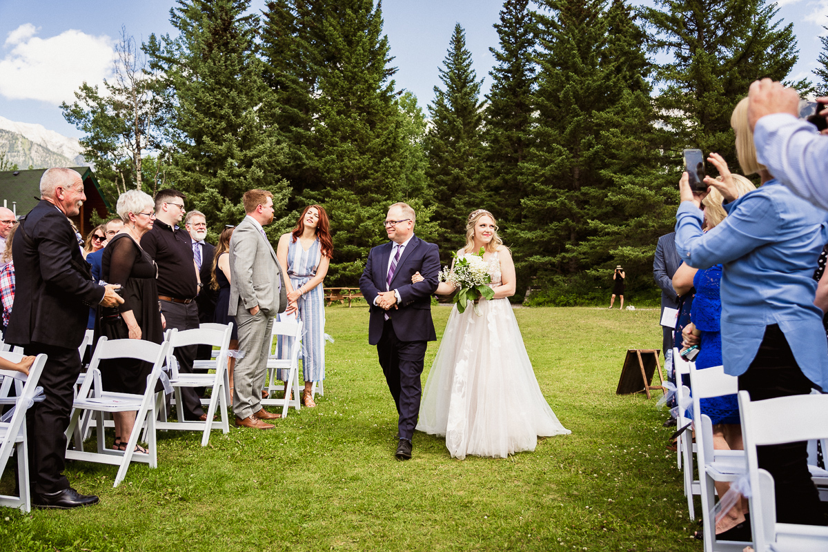Canmore wedding photographer at Canmore Ranch wedding ceremony