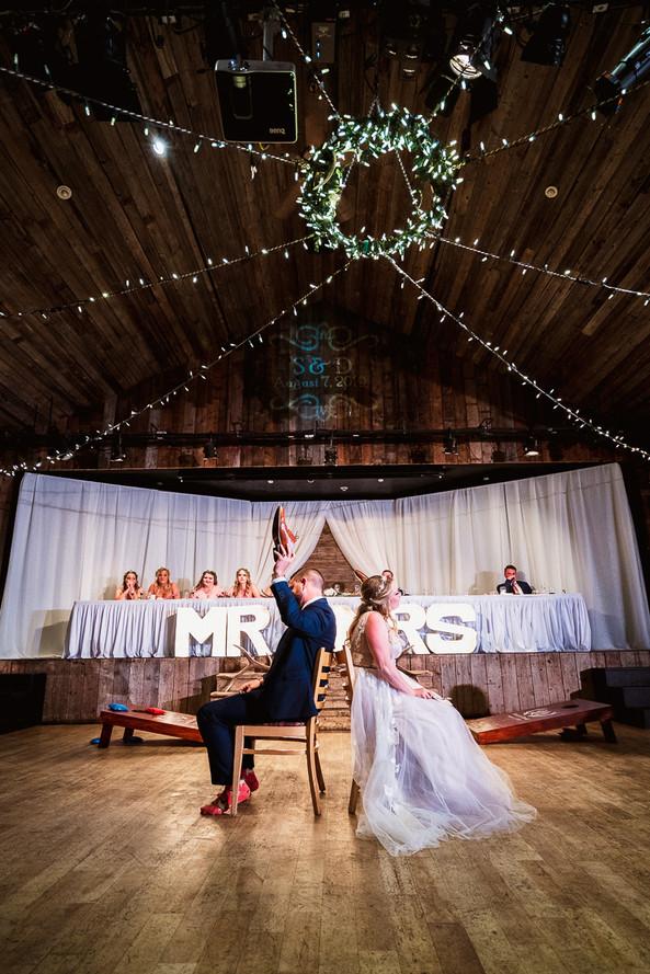 Cornerstone Theatre wedding reception games