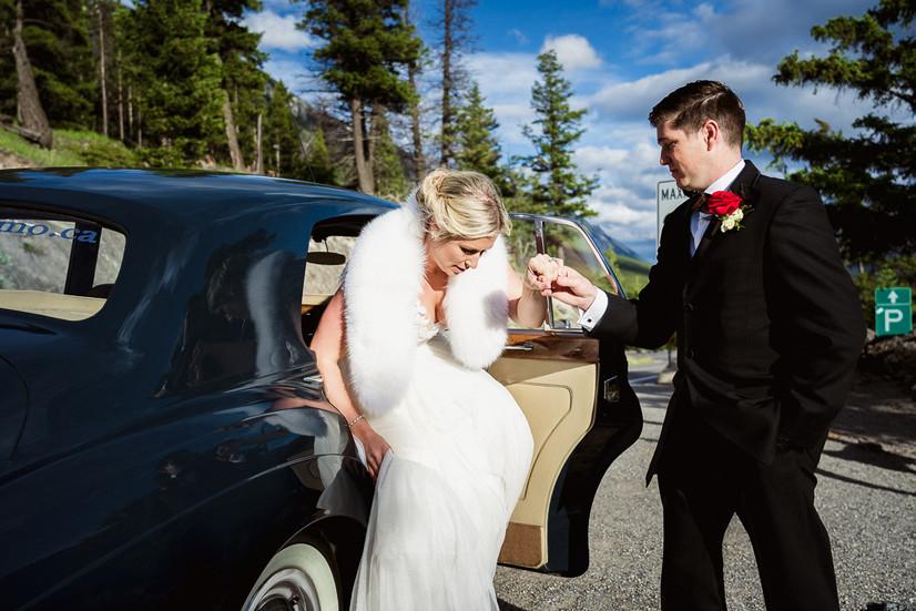 Banff wedding photographer at Surprise Corner