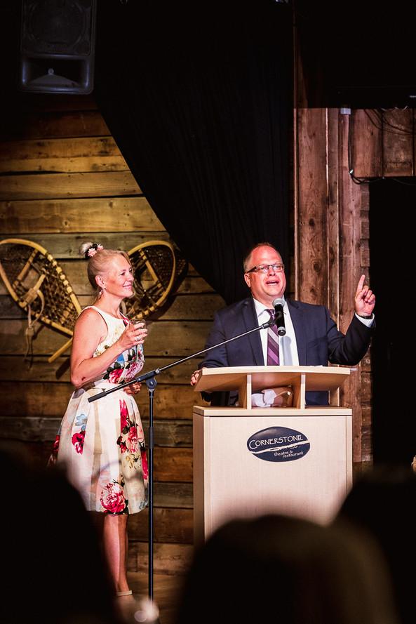 Cornerstone Theatre wedding reception toasts