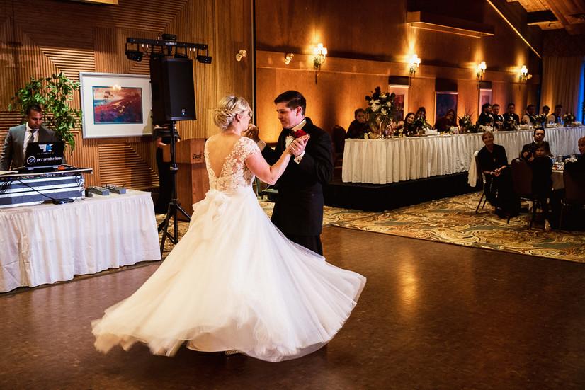 First dance at Banff Park Lodge wedding