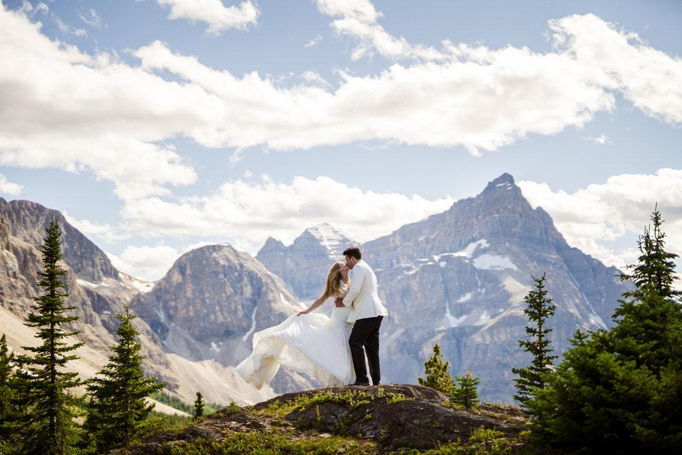 Banff heli wedding near Mount Assiniboine