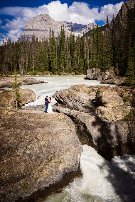 Emerald Lake natural bridge yoho wedding photos