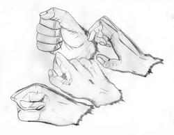 A mão direita
