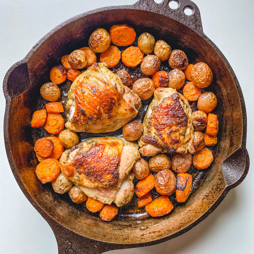 Herby Roasted Chicken Thighs