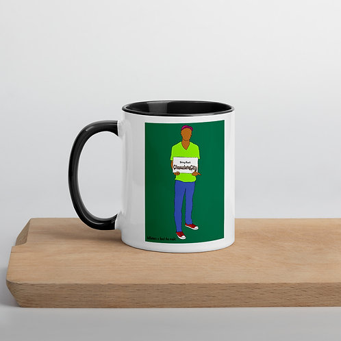 Bring Back Chocolate City Green Background Mug