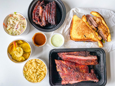 Takeout spread from DCity Smokehouse