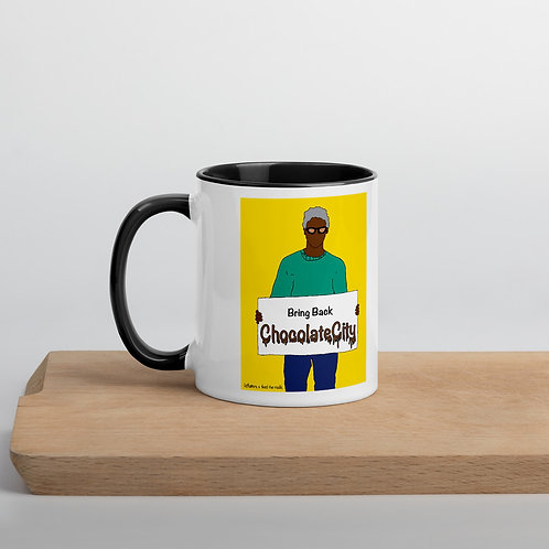 Bring Back Chocolate City Yellow Background Mug