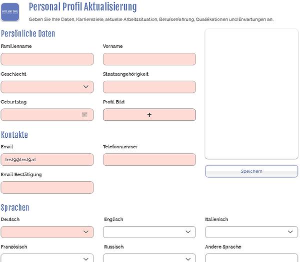 hotel jobs tirol osobny profil aktualizacia