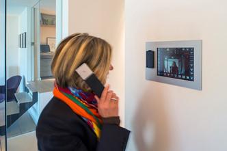 écran tactile de commande parlophone