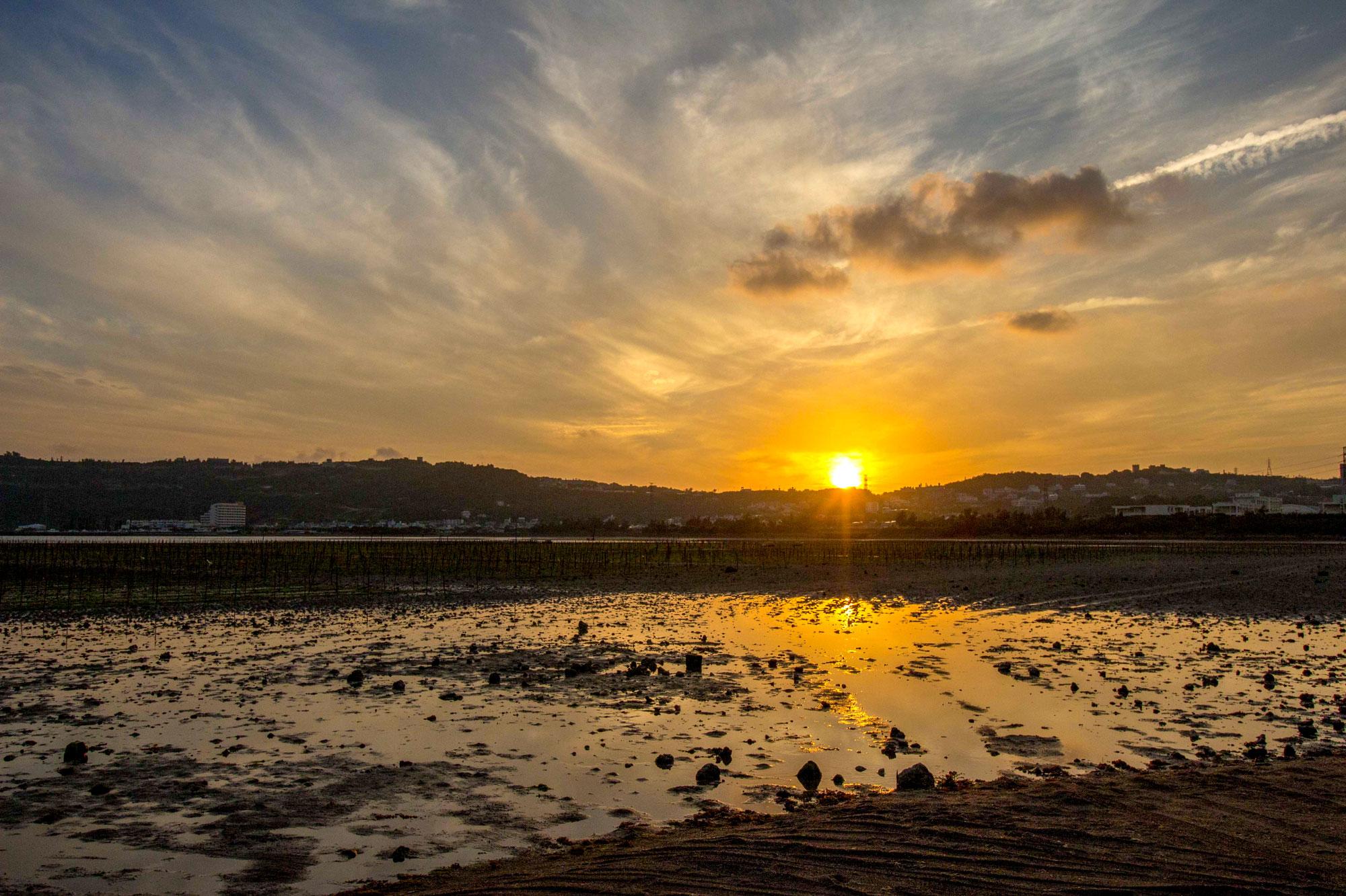 美崎浜の夕日