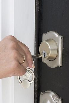 Entriegeln der Tür