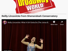 Reilly featured on BroadwayWorld!
