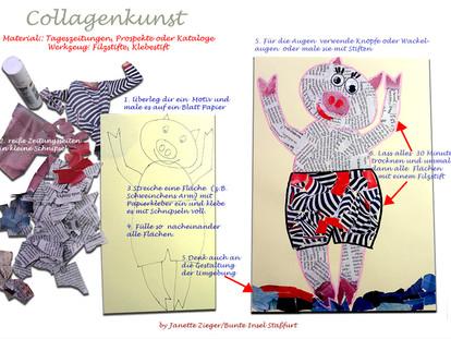 Collage Schweinchen