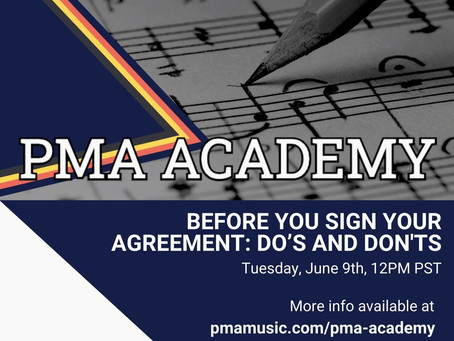 PMA ACADEMY!  REGISTER HERE!