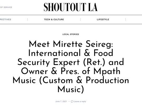 SHOUTOUT LA Features Mpath Music President, Mirette Seireg