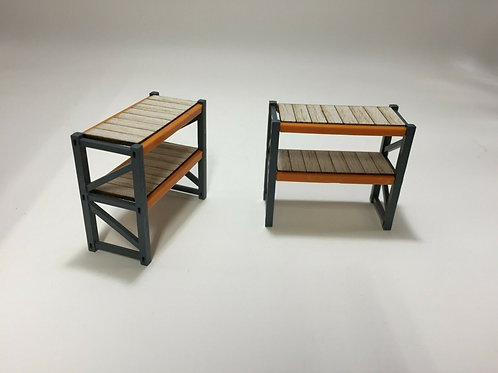 1:64 Pallet rack shelving units for farm toys, barns, garage models and dioramas