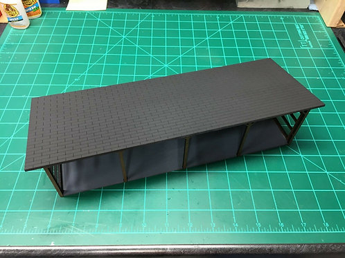 1/64 Scale Lean to vehicle shed kit 4 bay animal shelter