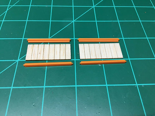 1:64 Pallet rack shelves only for farm toys, barns, garage models and dioramas